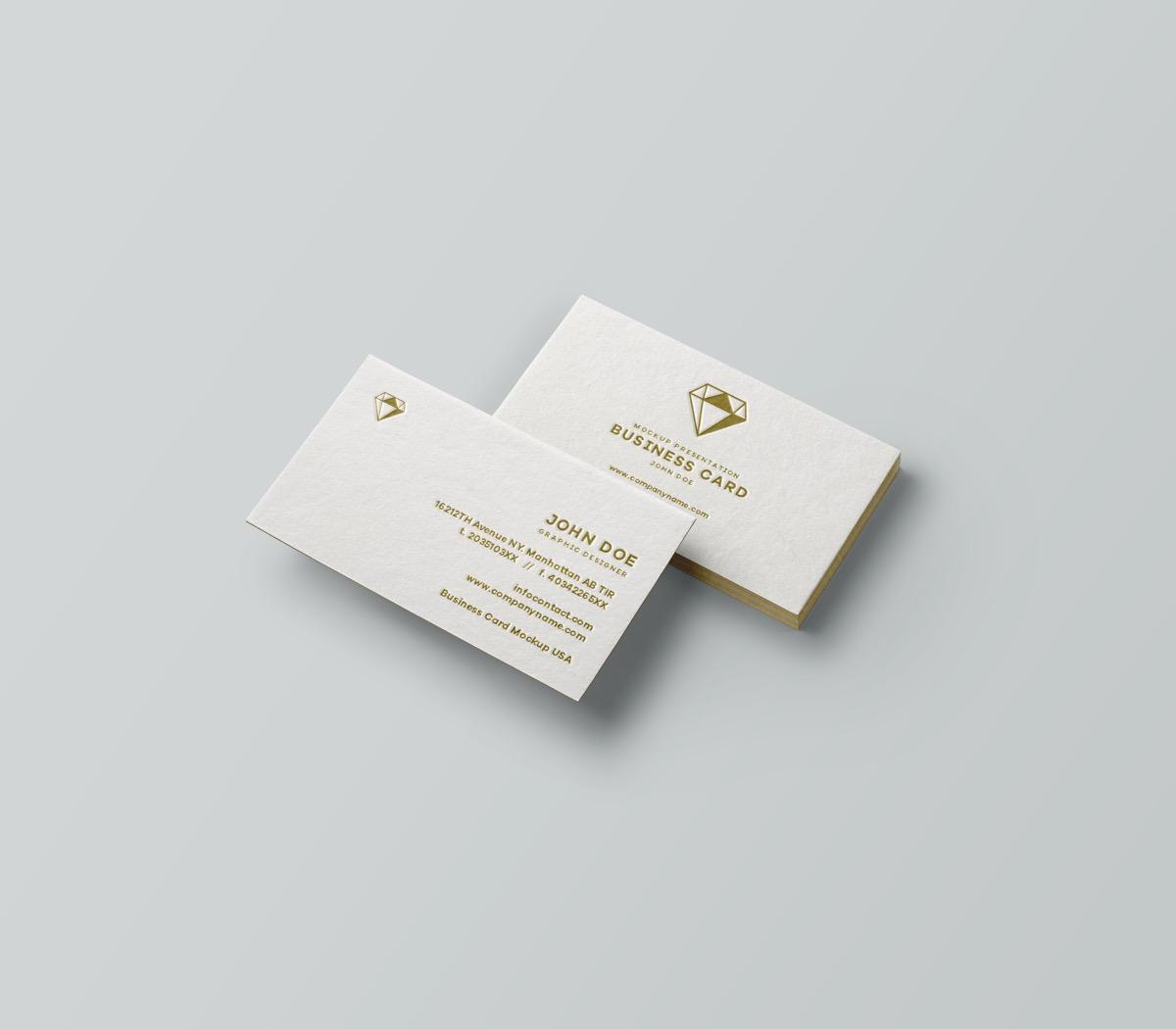 Classy Diamond Emblem Business Cards
